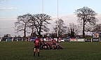 Stockport set up a scrum in their own half against Chester
