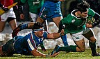 Luhandre Luus playing for Italy U20s against Ireland