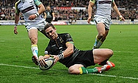 George North touched down four times for Northampton during their win over the Ospreys