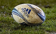 Shot of a rugby ball