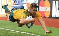 Drew Mitchell crosses for another Australia try