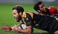 Wasps' Ruaridh Jackson scores their second try against Toulon