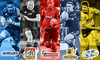 Jerome Kaino, Brodie Retalik, Naholo Nadolo, Ben Smith and Beauden Barrett