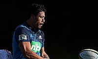 Melani Nanai scores during the Blues win