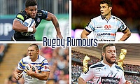 Kyle Eastmond, Dan Carter, Rabah Slimani and Ryan Hall