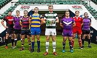 The 8 BUCS Super Rugby captains line up at Twickenham