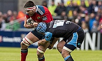 CJ Stander, left, scored two Munster tries