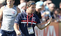 Mike Friday at Dubai 7s with USA