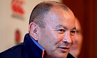 Eddie Jones, pictured, has been engaged in a war of words with Michael Cheika