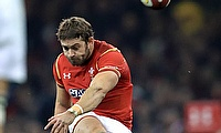 Wales' Leigh Halfpenny made five kicks out of five and scored a try against Scarlets