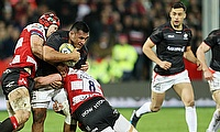 Saracens' Mako Vunipola, centre, returned to action