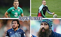 Ian Madigan, Mike Brown, Josh Strauss and Steven Luatua