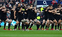New Zealand perform the Haka at Twickenham before their most recent meeting with England