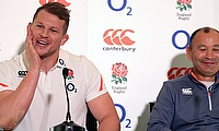 England head coach Eddie Jones (right) is a fan of captain Dylan Hartley (left)