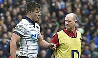 Scotland's Huw Jones got injured against Italy