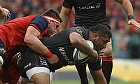 Mako Vunipola scored a try for Saracens against Munster
