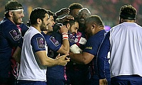 Stade Francais' Geoffrey Doumayrou was among the scorers at Murrayfield