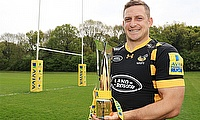 Jimmy Gopperth, pictured, has completed an awards clean sweep by being named Aviva Premiership player of the year