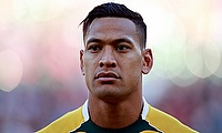 Israel Folau scored two tries for Waratahs