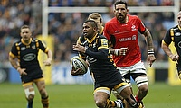 Kurtley Beale, centre, should find out on Wednesday whether he will be fit for Saturday's Aviva Premiership final