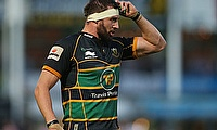 England's Tom Wood was sent off in the Champions Cup play-off final