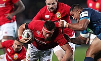 CJ Stander, centre, played well for the Lions