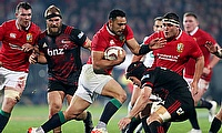 The British and Irish Lions edged out the Crusaders in Christchurch
