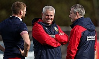 Warren Gatland, pictured centre, has called time on trash talking