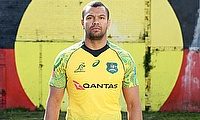 Kurtley Beale unveils the new Wallabies tndigenous jersey