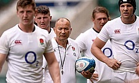 Eddie Jones and his England players