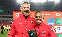 Johan Ackermann and Elton Jantjies