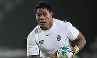 Manu Tuilagi, pictured, has been sent home from England's training camp along with Denny Solomona