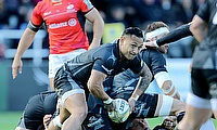 Sonatane Takulua scored Newcastle's opening try against Bath