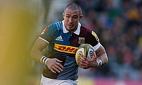 Harlequins' Mike Brown is waiting for news on his ankle problem