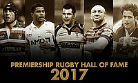 A quintet of rugby heroes are to be inducted into the Premiership Rugby Hall of Fame next week at a black-tie gala event in central London.
