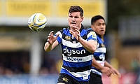 Freddie Burns, seen here playing for Leicester, was sent off in his first start for Bath