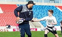 Sale's Denny Solomona, pictured left, is determined to win back his England place