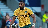Tevita Kuridrani scored three tries as Australia won a free-scoring encounter against Japan