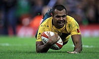 Kurtley Beale scored a try in the second half for Australia