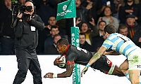 Semesa Rokoduguni England's second try in the win over Argentina
