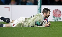 Elliot Daly scores England's opening try