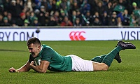 Ireland's Jacob Stockdale scored his side's first try against Argentina