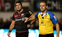 Brad Barritt, left, is one of Saracens' absentees