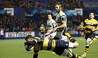 Cardiff Blues' Aled Summerhill touched down in the win over Dragons