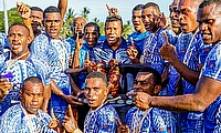Waisale Serevi joins the winning Police team
