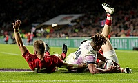 World Rugby say Gareth Anscombe, left, should have been awarded a try against England by the TMO