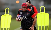James Haskell has rejoined England training following his suspension