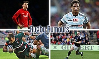 Josh Adams, Johan Goosen, Stuart Hogg and George McGuigan