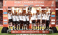 Fiji celebrating the win in Canada Sevens