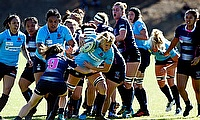 Rebels and Waratahs Women in action at at Box Hill Rugby Club